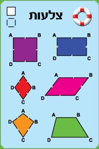 קלף עזר שרטוטי צלעות במרובעים